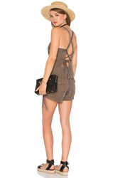 Pam And Gela Tie Back Romper Army