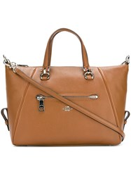 Coach External Zipped Pocket Tote Brown