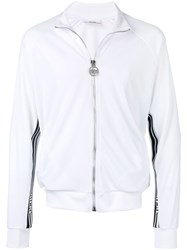 Gcds Contrast Band Zip Up Jacket White