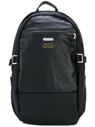 Master Piece Classic Backpack Men Leather Nylon Polyester One Size Black