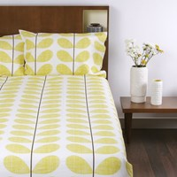 Orla Kiely Scribble Soft Duvet Cover Lemon Double