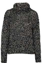 Rag And Bone Sandra Metallic Wool Blend Sweater Black