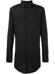 Poeme Bohemien Single Breasted Shirt Black