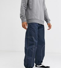 Noak Nylon Cargo Trouser With Pullers Navy