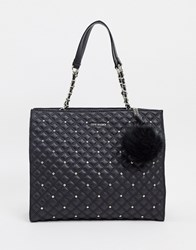Steve Madden Quilted Tote Bag Black