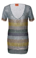 Missoni Semi Sheer Short Sleeve Tunic Stripe
