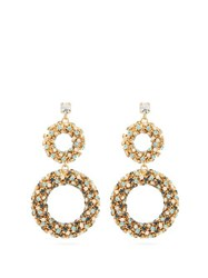 Rosantica By Michela Panero Caos Crystal Embellished Drop Earrings Gold