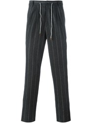 Brunello Cucinelli Pinstripe Trousers Grey
