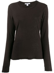 James Perse Longsleeved Round Neck T Shirt 60