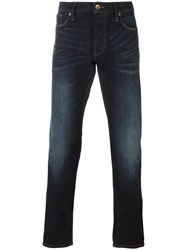 Armani Jeans Stonewashed Straight Fit Blue