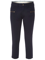 White Stuff Moon Bay Slim Cropped Trousers Navy