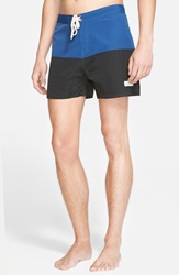 Saturdays Surf Nyc 'Ennis' Colorblock Board Shorts Cobalt