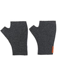 Barena Fingerless Knit Gloves Grey