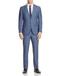 Hugo Chambray Solid Regular Fit Suit Blue Chambray