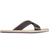 Paul Smith Kohoutek Cross Sandals Black