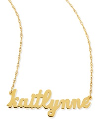 Jennifer Zeuner Jewelry Jennifer Zeuner Serafina Personalized Mini Nameplate Necklace