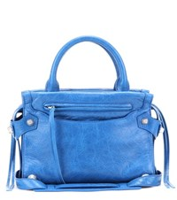 Balenciaga Mute City Xs Mini Leather Crossbody Bag Blue