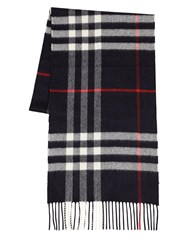 Burberry Giant Icon Cashmere Scarf Navy