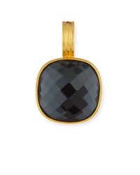 Dina Mackney Hematite Doublet Pendant Enhancer Gold