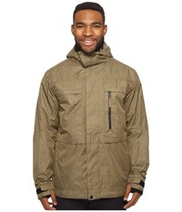 686 Authentic Smarty Form Jacket Khaki Melange Men's Coat Tan