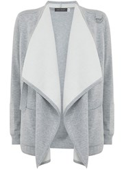 Mint Velvet Silver Grey Double Faced Organic Cardigan Grey