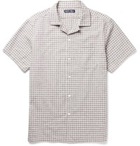 Alex Mill Camp Collar Checked Cotton Seersucker Shirt White