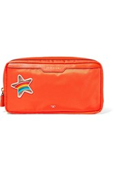 Anya Hindmarch Suncreams Leather Trimmed Shell Cosmetics Case Orange