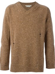 Marc Jacobs Distressed Knit Jumper Nude And Neutrals