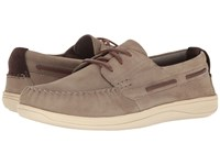 Cole Haan Boothbay Boat Shoe Sea Otter Nubuck Men's Lace Up Casual Shoes Brown