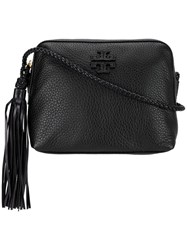 Tory Burch Tassel Detail Shoulder Bag Women Cotton Leather One Size Black