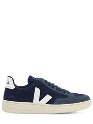 Veja 40Mm V 12 Faux Leather Sneakers Navy