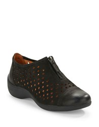 Gentle Souls Austin Perforated Leather Loafers Black