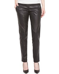 J. Mendel Leather Pants Noir