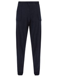 Denis Colomb Sarouel Silk Blend Track Pants Navy