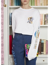 Olympia Le Tan Long Sleeve T Shirt White