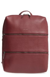 Matt And Nat Slate Faux Leather Backpack Red Cerise