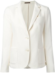 Eleventy Two Button Blazer White