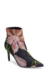 Topshop Women's Mimosa Pointy Toe Bootie Black Multi
