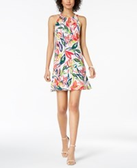 Msk Petite Floral Print Shift Dress Lily White