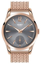 Women's Henry London 'Finchley' Round Mesh Strap Watch 30Mm