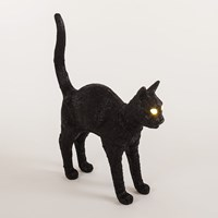Seletti Jobby The Cat Rechargeable Lamp Black