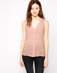 Vero Moda Sleeveless Blouse Silverpinkplain