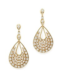 Bloomingdale's Diamond Statement Drop Earrings In 14K Yellow Gold 3.05 Ct. T.W. 100 Exclusive White Gold
