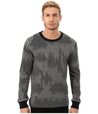 Alternative Apparel Light French Terry Inlet Crew Neck Heather Grey Patchwork Men's Long Sleeve Pullover Gray