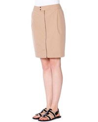 Tomas Maier Tech Canvas Zip Front Skirt Chino Women's