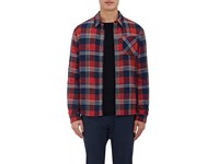 Aztech Mountain Men's Cotton Flannel Shirt Jacket Red