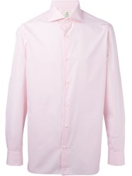 Borrelli Cuffed Sleeve Button Down Shirt Pink And Purple