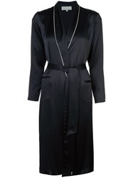 Fleur Du Mal Long Smoking Robe Black