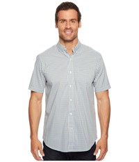 Dockers Short Sleeve Comfort Stretch Woven Shirt Agave Green Clothing Gray