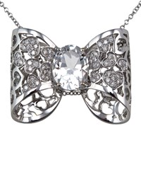 Pasquale Bruni Oh La' La' Diamond Bow Necklace Women's